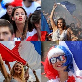 المشجعات الفرنسيات خطفن الأضواء بفوز منتخب بلادهن بكأس العالم