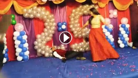 فيديو صادم: شاب في العشرين  يسقط ويفارق الحياة  أثناء رقصه مع فتاة  ..