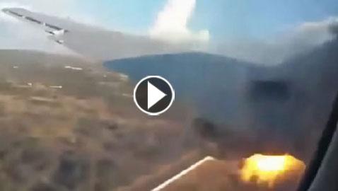 بالفيديو..  لحظات مرعبة لسقوط طائرة ركاب صغيرة