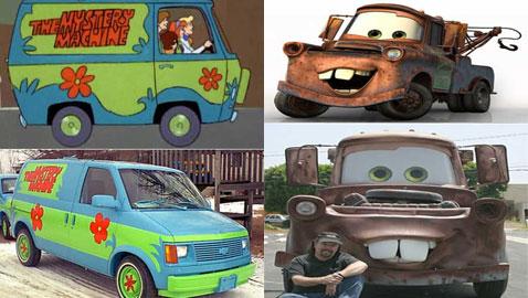 10 سيارات حقيقية مستوحاة من الأفلام والمسلسلات الكرتونية