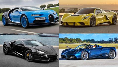 بالصور.. أسرع 10 سيارات في العالم لعام 2018 بينها سيارة عربية