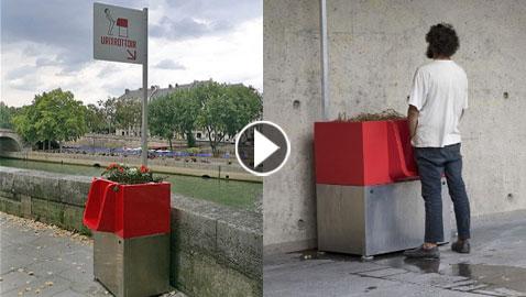 إضافة مراحيض حمراء عامة للتبول مباشرة في نهر السين في باريس!