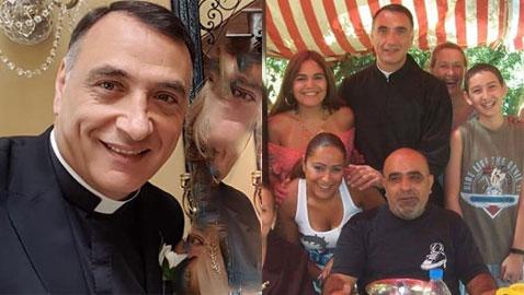 صور الأب طوني (الفنان المعتزل ربيع الخولي) مع العائلة: اشتقت للبنان