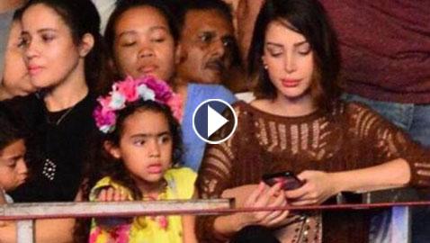لأول مرة: تسريب صور ابنة تامر حسني برفقة والدتها بسمة بوسيل