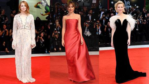 أجمل إطلالات النجمات على البساط الأحمر في مهرجان البندقية السينمائي