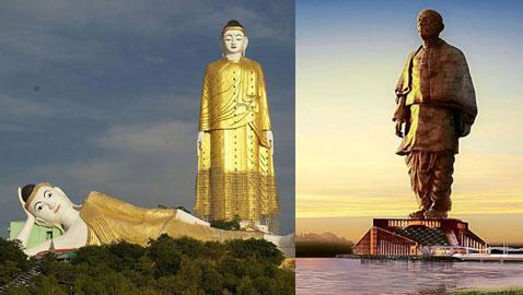 بالصور.. تعرفوا على أطول التماثيل على وجه الأرض