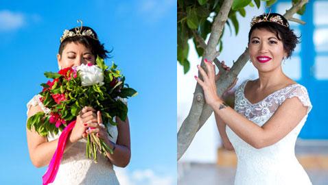 حكاية غريبة: فتاة فرنسية تتزوج نفسها في حفل مميز.. صور