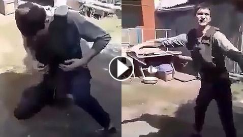 رجل أوكراني يقتل نفسه بالخطأ في اختبار لسترة مضادة للرصاص! فيديو