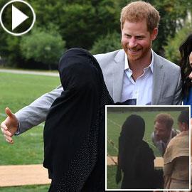 بالفيديو.. قبلة الأمير هاري لمحجبة تضعه في موقف محرج