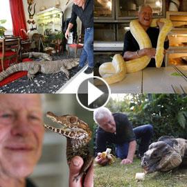بالفيديو والصور.. فرنسي يربي 400 نوع من الزواحف بمنزله