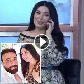 فيديو صادم: عبير صبري تقطع مقابلتها على الهواء لترد بخوف على زوجها  ..