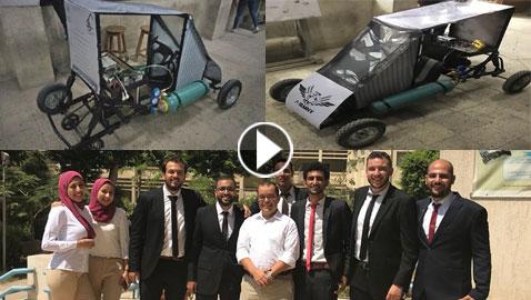 بالفيديو: 9 طلاب مصريين يبتكرون سيارة تعمل بالهواء لتوفير الطاقة  ..