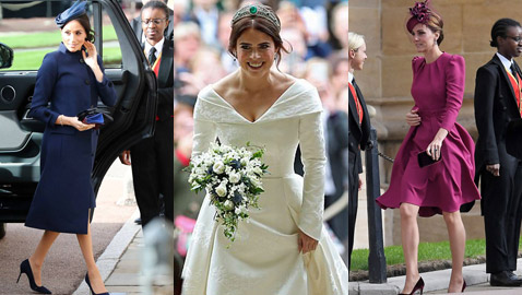 صور: إليكم أزياء العائلة المالكة في حفل زفاف الأميرة يوجيني حفيدة الملكة إليزابيث