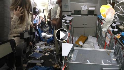 رحلة الجحيم: مطبات هوائية شديدة تتسبب بإصابة 15 راكبا خلال رحلة استغرقت 8 ساعات!