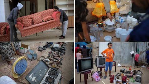 وضع مؤلم جدا في غزة: الأهالي يبيعون أثاث منزلهم مقابل الطعام!