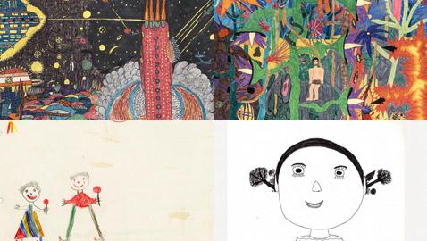 صور رسومات الطفولة لكبار الفنانين تكشف عن خيالهم وموهبتهم منذ الصغر