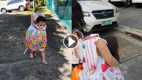 أكثر الفيديوهات رعبًا في الهالوين: طفلة تحمل رأسها بين يديها