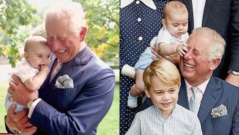 صور طريفة للأمير تشارلز وأحفاده بمناسبة عيد ميلاده الـ70