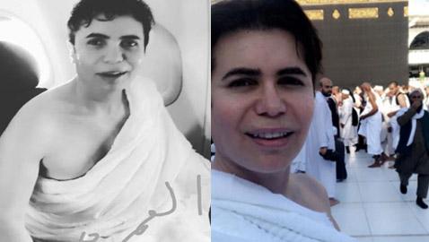 صور الفنان ومصفف الشعر اللبناني جو رعد بملابس الاحرام يؤدي العُمرة
