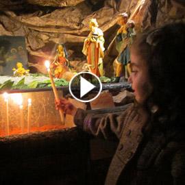 أجواء عيد الميلاد الرائعة من داخل مغارة بيت لحم الدمشقية.. فيديو