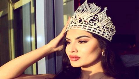 ملكة جمال البحرين تفوز بجائزة (التاج المرموق) في الهند