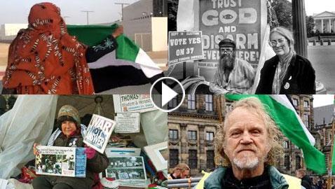 أشهر 4 ناشطين اعتصموا بمفردهم تضامنا مع فلسطين، بينهم امرأتان!