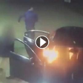 فيديو صادم.. فعل متهور كاد أن يودي بحياة 3 أشخاص