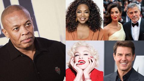 صور أغنى المشاهير بالعالم وفي المقدمة اعلامية ثروتها 3.2 مليار دولار
