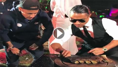بالفيديو.. نيمار يستعرض مهاراته بالطهي مع الطباخ التركي حبيب الملح
