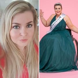 صور ملكة جمال على كرسي متحرك فازت بالتاج رغم  الشلل ومرض السرطان!