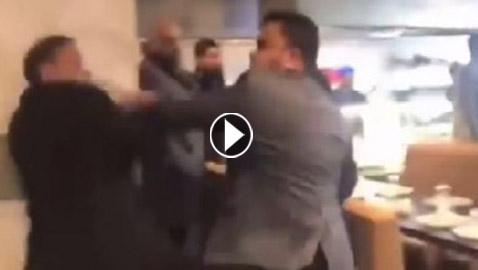 بالفيديو: شجار عنيف بالسكاكين داخل مطعم في لندن