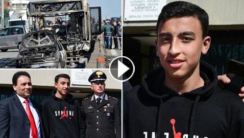 فيديو وصور: إيطاليا تمنح المواطنة لطفل مصري شجاع أنقذ 51 طالبًا من الموت