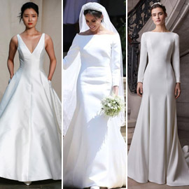تصاميم فساتين زفاف عام 2020 تظهر تأثير ميغان ماركل القوي