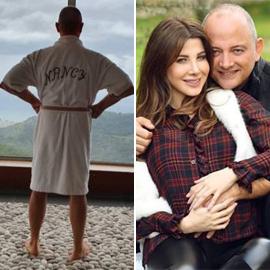 صورة طريفة: زوج نانسي عجرم  يرتدي روب الحمام الخاص بها!