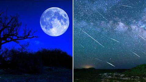 سقوط الشهب والقمر الأزرق.. ظواهر فلكية نادرة سيشهدها هذا الشهر