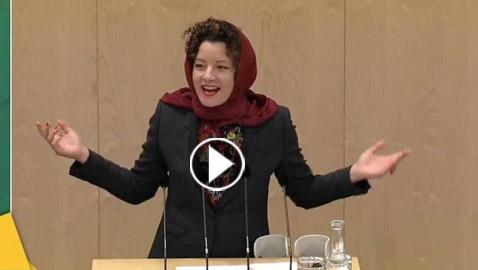 بالفيديو: نائبة نمساوية ترتدي الحجاب وتوجه رسالة من البرلمان