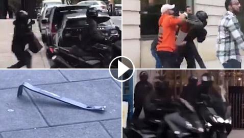 أبطال عرب يتصدون لعصابة مسلحة سرقت محل مجوهرات في لندن! فيديو