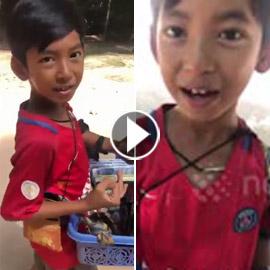 بالفيديو رجل أعمال يتبنى صبي فقير يعمل بائعا متجولا ويتحدث 10 لغات