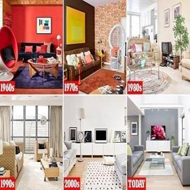 بالصور: تغير تصاميم غرفة المعيشة على مدى 6 عقود