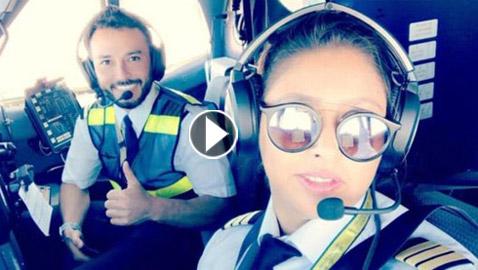 فيديو وصور أول امرأة سعودية تقود رحلة جوية رسمية بالمملكة