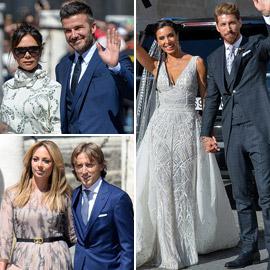 صور: حضور كبير من نجوم ومشاهير كرة القدم إلى حفل زفاف راموس