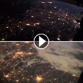 فيديو مدهش يحبس الأنفاس.. هكذا تبدو الأرض ليلا من الفضاء!