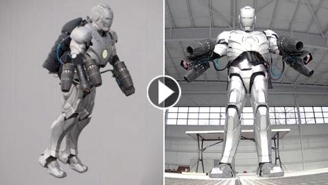 فيديو وصور: تصميم بزة (الرجل الحديدي) مقاومة للرصاص وتطير