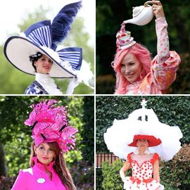 بالصور: أبرز إطلالات القبعات النسائية في سباق رويال أسكوت