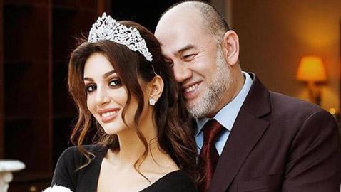 أول صور بعد الزواج لملك ماليزيا وزوجته ملكة الجمال