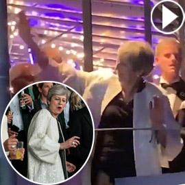 بالفيديو: رئيسة الوزراء البريطانية تيريزا ماي ترقص في مهرجان