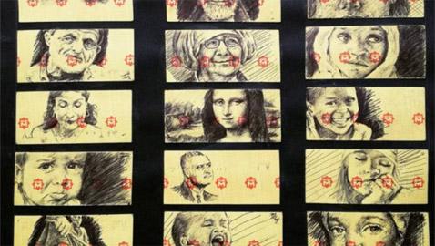 صور: رسام مصري يحوّل تذاكر المترو إلى لوحات فنية مذهلة