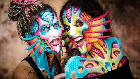 صور مدهشة: المهرجان الدولي للرسم على الجسم