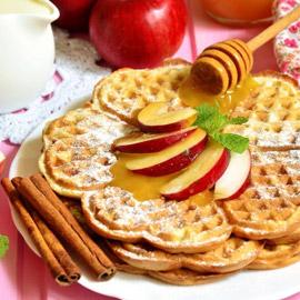 طريقة تحضير وافل التفاح والقرفة الشهي والخفيف