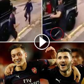 هجوم مسلح بالسكاكين على اللاعبين مسعود أوزيل وسياد كولاسيناك! فيديو